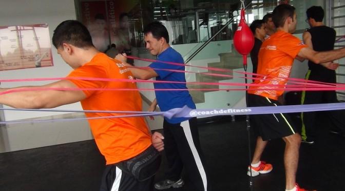 Áreas de entrenamiento con bandas de resistencia
